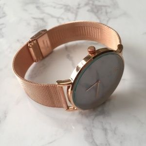 Rose Gold and Marble Minimalist Watch